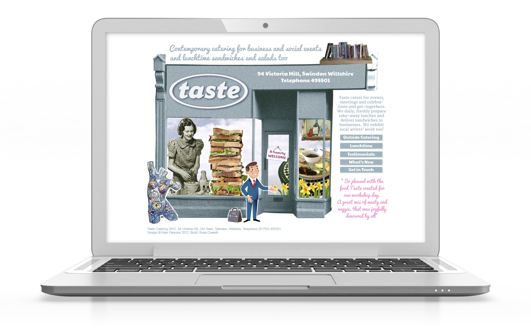 Catering, design, web design, retail, Swindon