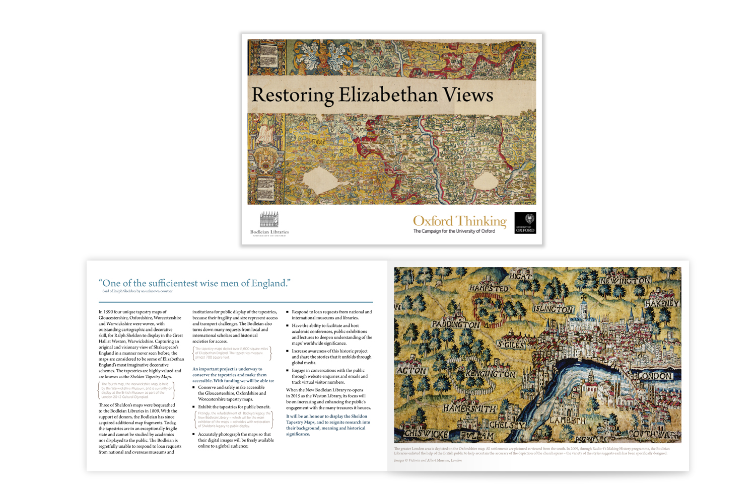 Bodleian Libraries, conservation, tapestry, fund raising