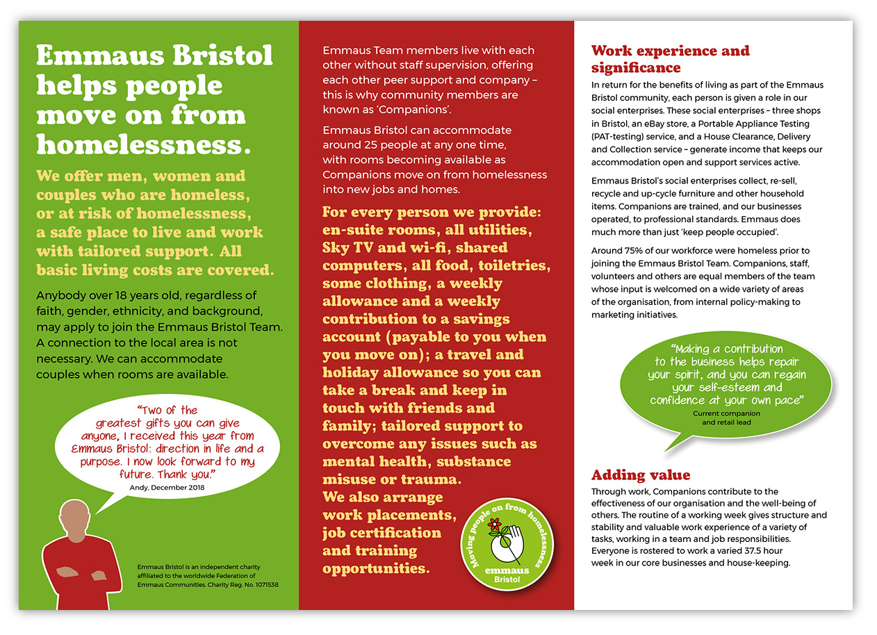 referral leaflet for potential service-users