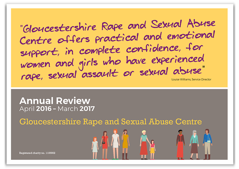 annual review cover Gloucestershire Rape and Sexual Abuse Centre