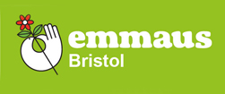 "logo: Emmaus Bristol ""working together to end homelessness"""