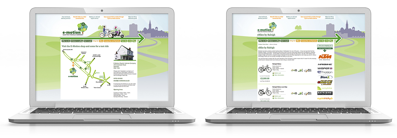 e-motionevc.co.uk, web design, swindon, south-west england, designer