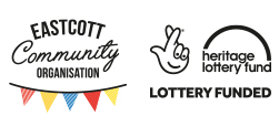 heritage lottery fund logo next to eastcott community organisation logo