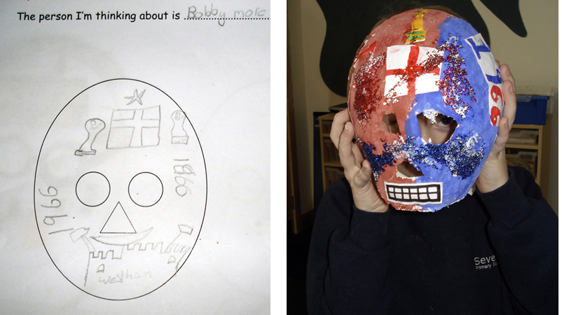 football, bobby moore, mask, day of the dead