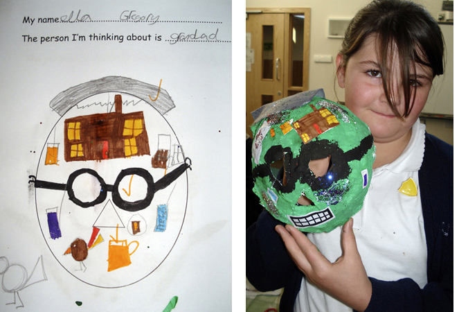 mask making, art, primary school, halloween
