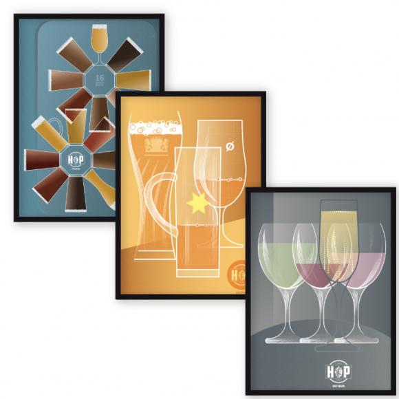 The Hop Inn Trilogy – Wine, Beer & Lager: set of 3