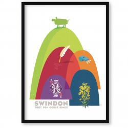art print of Swindon – hills