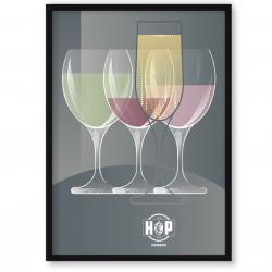 The Hop Inn Poster Trilogy – wine