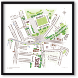 Magic Roundabout, Swindon – typographic art map